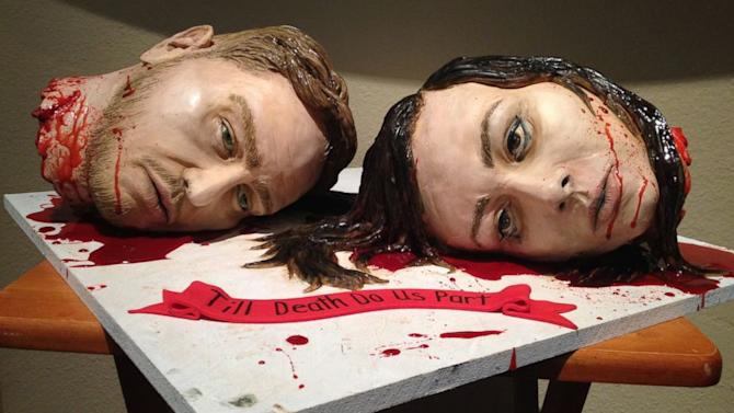 Couple Celebrates With Killer Wedding Cake