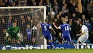 Aidan White, right, netted Leeds' opener as they beat Everton