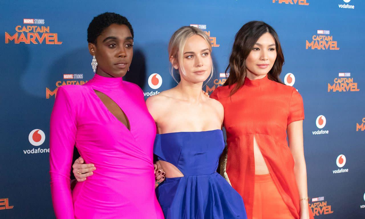<p>拉沙納林區、布麗拉森和陳靜於英國時間2019年2月27日出席了在英國倫敦舉辦的《驚奇隊長》首映。(圖/StillMoving.net for Disney) </p>