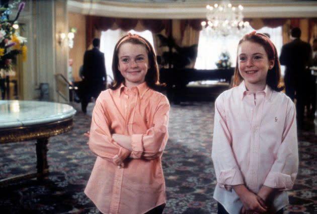 <p>琳賽蘿涵在十一歲時演出的《天生一對》,可說是一人分飾兩角的電影中,最廣為人知的作品。(照片出處:Yahoo US) </p>
