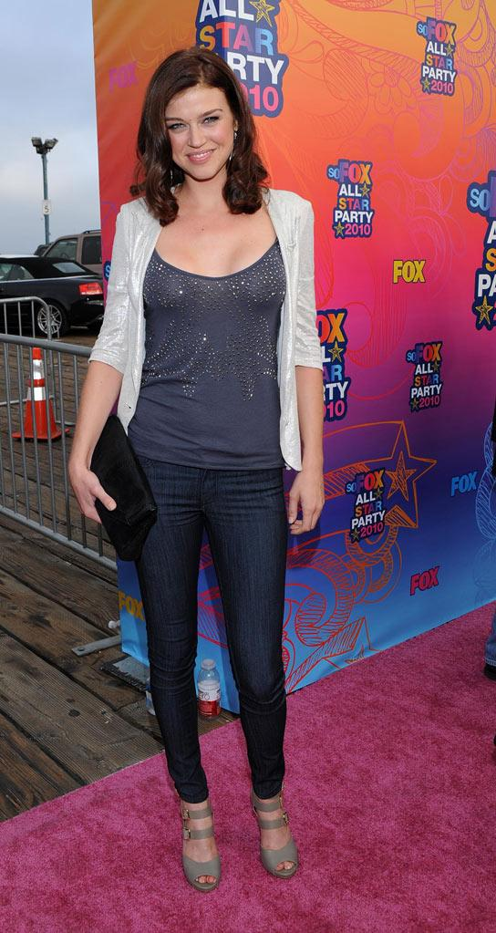 """Lone Star's"" Adrianne Palicki arrives at the Fox 2010 Summer TCA All-Star Party on August 2, 2010 in Santa Monica, California."