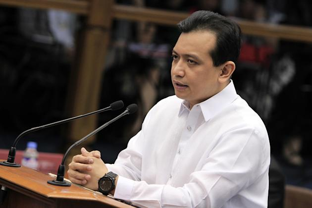 Antonio Trillanes: Backdoor negotiator. Senator Antonio Trillanes IV accused Enrile of allegedly giving into the pressures of Arroyo's allies in connection with a bill proposing to divide Camarines Sur. The Senate president fired back and alleged Trillanes sold the country's territorial claims to appease Chinese government in backchannel negotiations in the aftermath of tension over Scarborough Shoal in April. (Photo by NPPA Images)