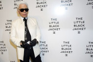Karl Lagerfeld attends CHANEL's The Little Black Jacket Exhibition on Wednesday, June 6, 2012, in New York. (Photo by Charles Sykes/Invision/AP