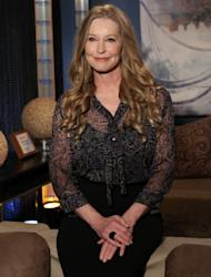 Patrick Swayze's widow, Lisa Niemi, poses backstage on the set of Access Hollywood Live on January 9, 2012 -- Access Hollywood