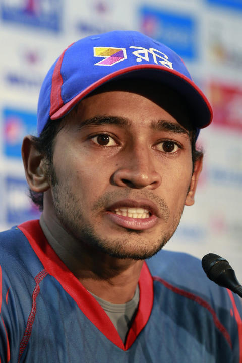 Bangladeshi cricket team captain Mushfiqur Rahim addresses a press conference after the second test match of a two match test series between South Africa and Bangladesh, in Dhaka, Bangladesh, Monday,
