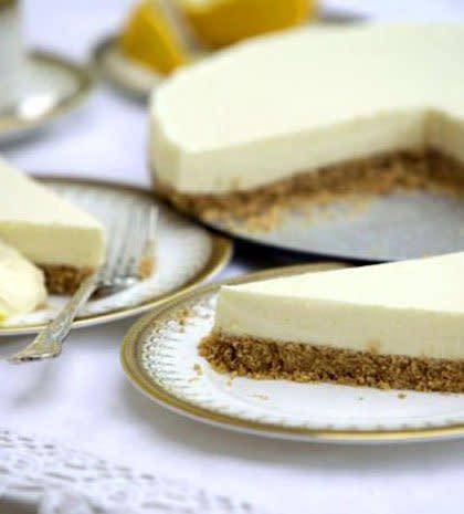 Cheese cake με λεμόνι στο μπαλκόνι