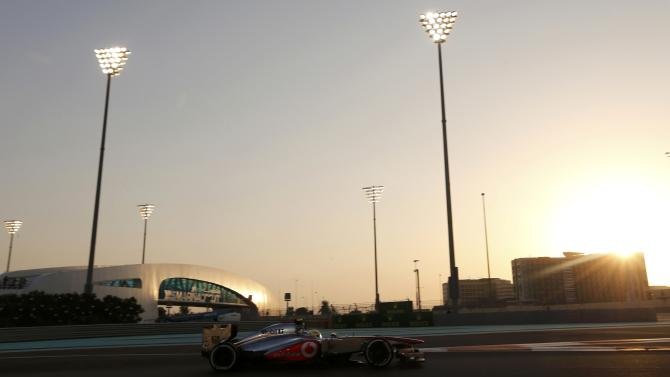 McLaren Formula One driver Perez of Mexico drives during the qualifying session of the Abu Dhabi F1 Grand Prix at the Yas Marina circuit on Yas Island