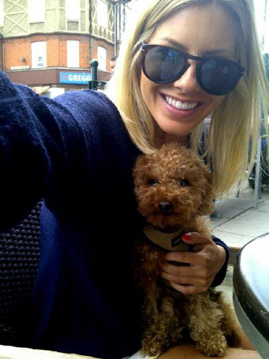 Celebrity photos: The Saturdays' Mollie King loves her pet pooch Alfie so much that he even goes out for brunch with her. So cute. Copyright [Mollie King]