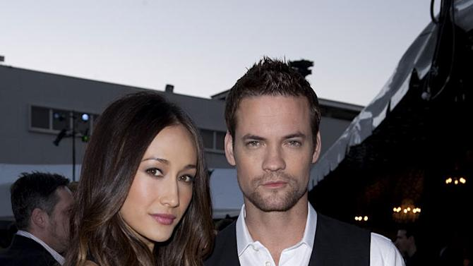 """""""Nikita's"""" Maggie Q and Shane West at the TCA Summer 2010 CBS/The CW/Showtime """"Star Party in the Tent"""" on July 28, 2010 in Beverly Hills, California."""