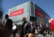 The Oracle Corp. logo is displayed at Oracle OpenWorld in San Francisco in 2010. Oracle accused Google of infringing on Java computer programming language patents and copyrights Oracle obtained when it bought Java inventor Sun Microsystems in a $7.4 billion deal in 2009