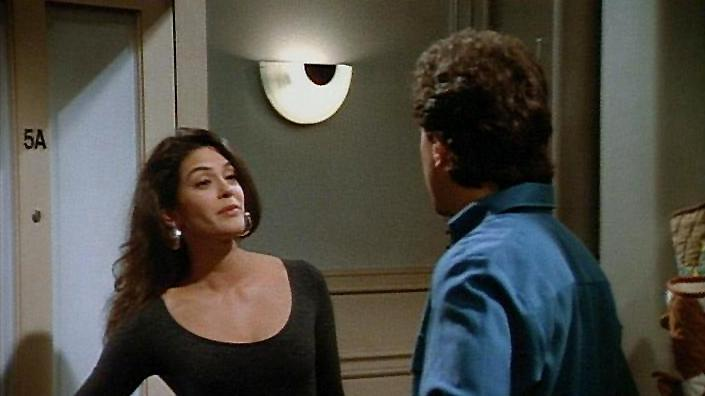 """The Implant"" - Jerry dumps a girlfriend because she has breast implants. Seinfeld"