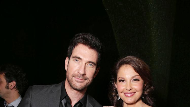 Dylan McDermott and Ashley Judd at FilmDistrict's Premiere of 'Olympus Has Fallen' hosted by Brioni and Grey Goose at the ArcLight Hollywood, on Monday, March, 18, 2013 in Los Angeles. (Photo by Eric Charbonneau/Invision for FilmDistrict/AP Images)