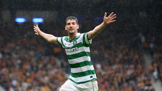 Charlie Mulgrew scored Celtic's second goal against his former club Aberdeen