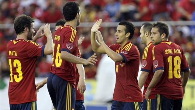 World Football - Pedro double helps Spain to win in Panama
