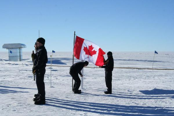 A memorial was held at the Amundsen-Scott South Pole Station for the three crew members that perished in a plane crash in a remote corner of Antarctica during a supply mission on Jan. 23, 2013.