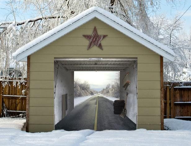 Funny Garage Door : Wild garage door illusions tennis planet me