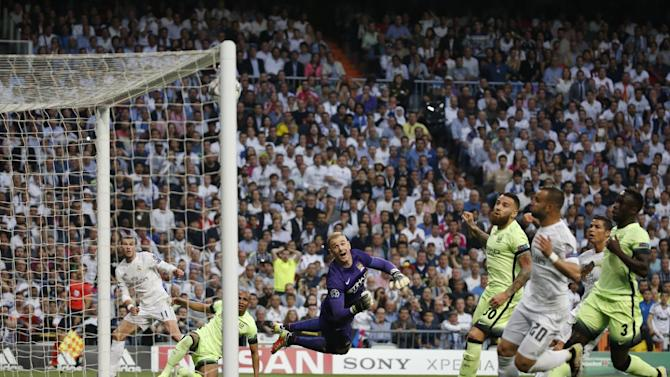 Gareth Bale scores the first goal for Real Madrid
