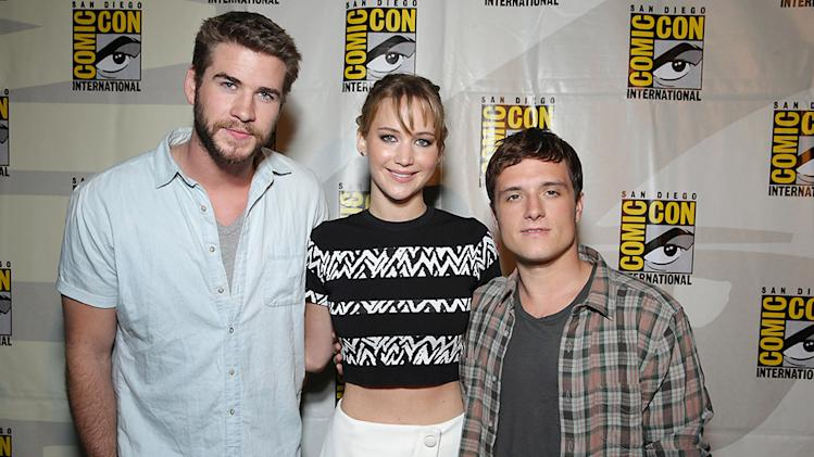 Jennifer Lawrence, Josh Hutcherson, Liam Hemsworth