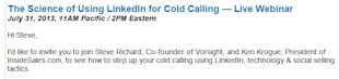No, LinkedIn is Not a Source For Your Cold Calling image linkedincoldcalling