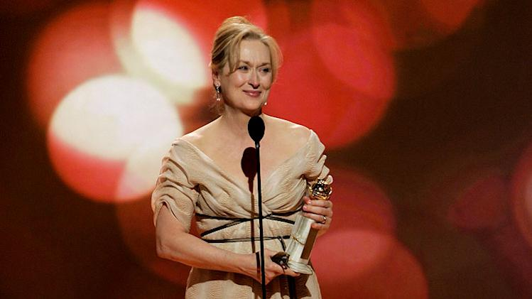 Meryl Streep at the 64th annual Golden Globe Awards.