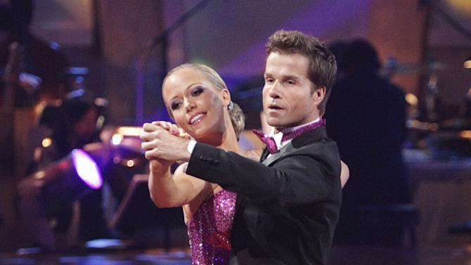 """Kendra Wilkinson and Louis Van Amstel perform on """"Dancing with the Stars."""""""