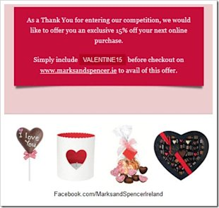 Four Valentine's Day Campaigns To Inspire Your Digital Marketing image Marks And Spencers Ireland Valentines Day Competition thumb