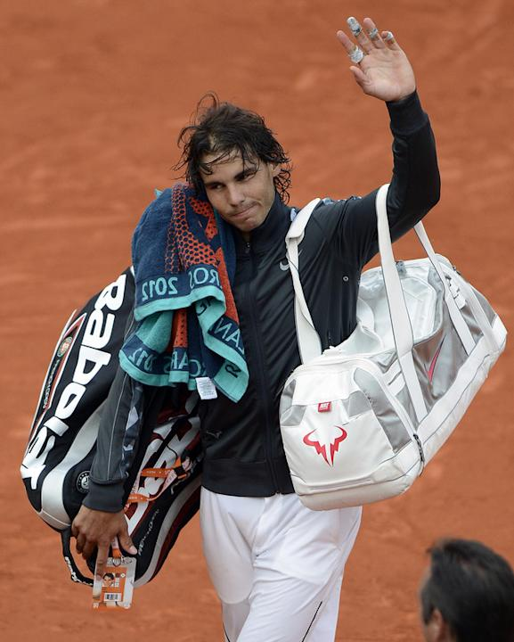 Spain's Rafael Nadal Leaves  AFP/Getty Images
