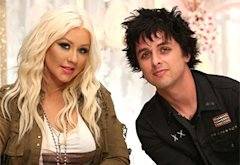 Christina Aguilera, Billie Joe Armstrong | Photo Credits: Tyler Golden/NBC/AP