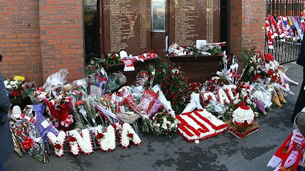 Fans pay tribute to the victims of the 1989 Hillsborough disaster which claimed the lives of 96 Liverpool fans (AFP)