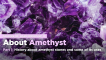 School of Hard Rocks Lesson 17 - About Amethyst