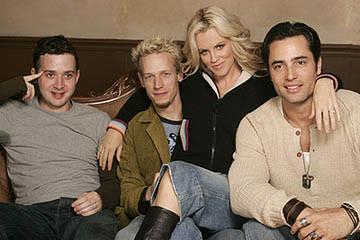 Eddie Kaye Thomas, John Asher, Jenny McCarthy and Victor Webster of Dirty Love Sundance Film Festival - 1/22/2005