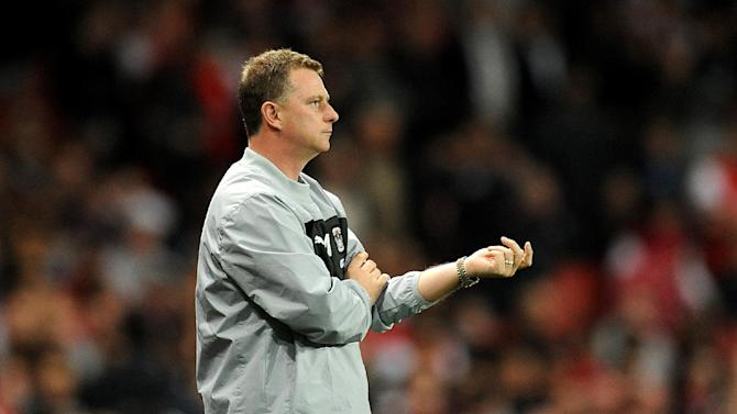 Mark Robins was encouraged by his team's display despite the 6-1 defeat at Arsenal