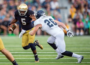 Everett Golson, Notre Dame. (Photo: USA Today)