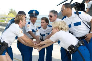Thomas Lennon , Robert Ben Garant , Niecy Nash , Mary Birdsong , Carlos Alazraqui , Cedric Yarbrough , and Wendi McLendon-Covey in 20th Century Fox's Reno 911: Miami
