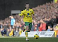 Norwich City defender Adam Drury during a Premier League match in February 2012. Norwich have little to play for except pride and finishing as high as they can in their first Premier League season since 2005 as they are now safe from relegation