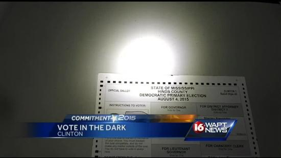 Some voters cast ballots in dark