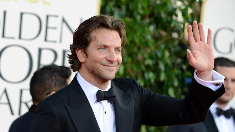 Actor Bradley Cooper arrives at the 70th Annual Golden Globe Awards at the Beverly Hilton Hotel on Sunday Jan. 13, 2013, in Beverly Hills, Calif. (Photo by Jordan Strauss/Invision/AP)