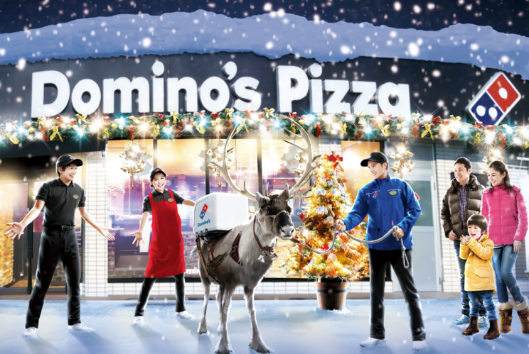 Domino's plans to use reindeer to deliver pizza in Japan