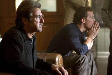 Al Pacino and Matthew McConaughey in Universal Pictures' Two for the Money