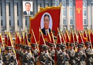 North Korean soldiers take part in a parade in Pyongyang in April 2012. North Korea's army chief has been relieved of all his posts due to illness, state media said Monday, in a surprise development that removes one of new leader Kim Jong-Un's inner circle