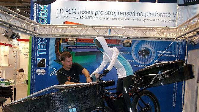 Flying Bicycle Unveiled In Prague