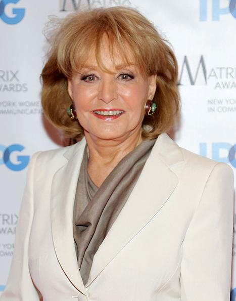 Barbara Walters Hospitalized After Falling, Cutting Forehead