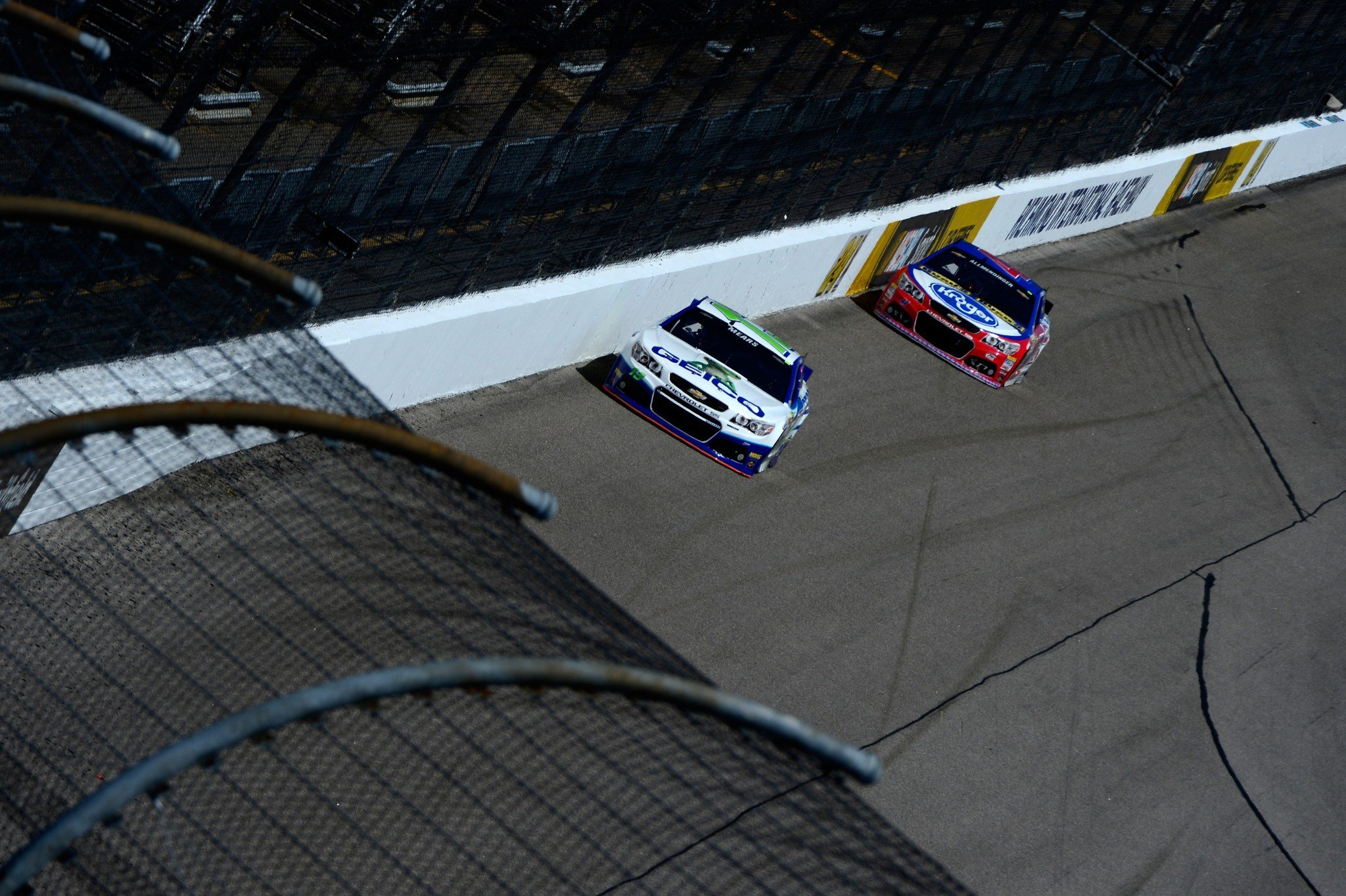 Casey Mears (L) won't return to Germain in 2017 while AJ Allmendinger gains a teammate at JTG-Daugherty. (Getty)