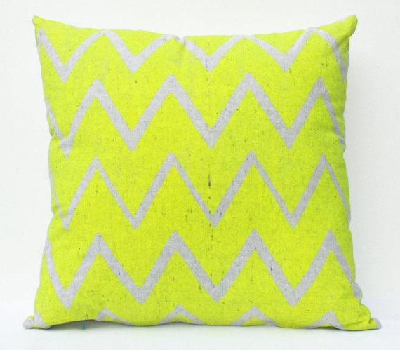 Organic, Neon-colored Pillow