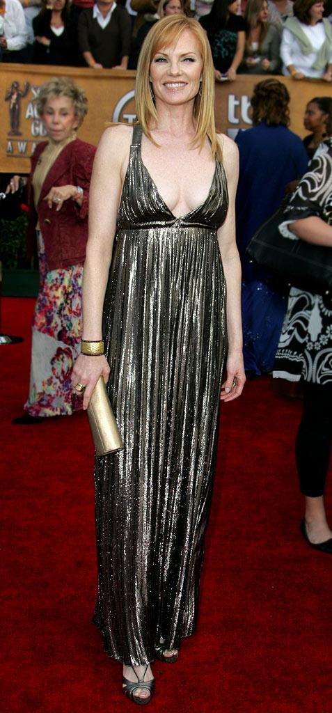 Marg Helgenberger at the 13th Annual Screen Actors Guild Awards.