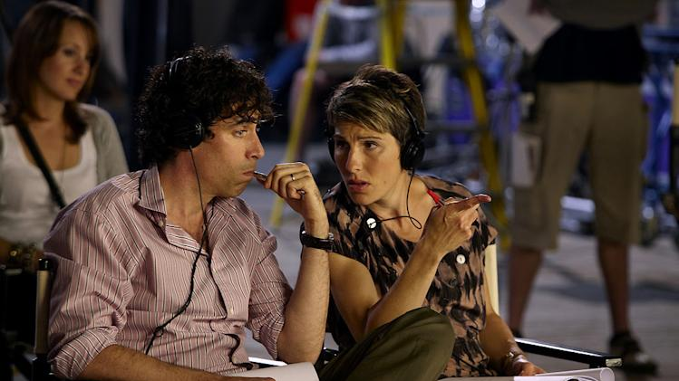 "Stephen Mangan as Sean Lincoln and Tamsin Grieg as Beverly Lincoln in ""Episodes."""