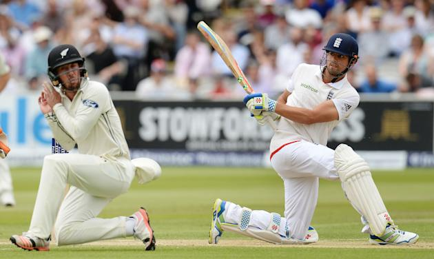 Cricket: England's Alastair Cook in action