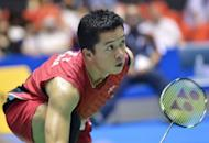Athens Olympic gold medallist Taufik Hidayat of Indonesia follows his return shot against teammate Simon Santoso duirng their men's singles quarter-finals at the Japan Open badminton tournament in Tokyo. Hidayat, who has announced he will retire next year, bowed out to Santoso 9-21, 14-21