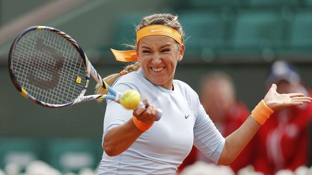 French Open - Azarenka revels on shifting sands in Paris