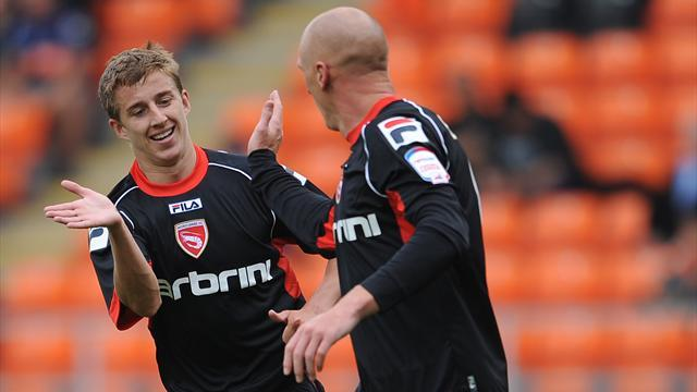Football - Fleming at the double for Morecambe